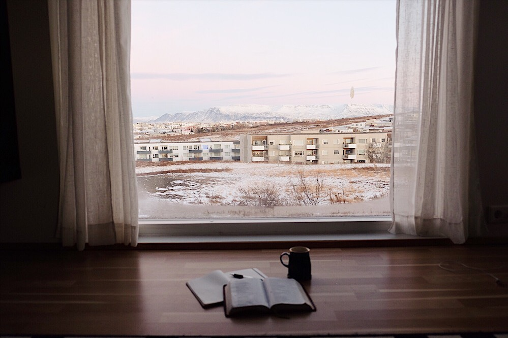 We had long layover in Reykjavik, Iceland for a few days, to pray and process and talk together about our time in Turkey. Each morning the sun rose slowly, giving us the perfect time for coffee, journaling, and a little bit of poetry.