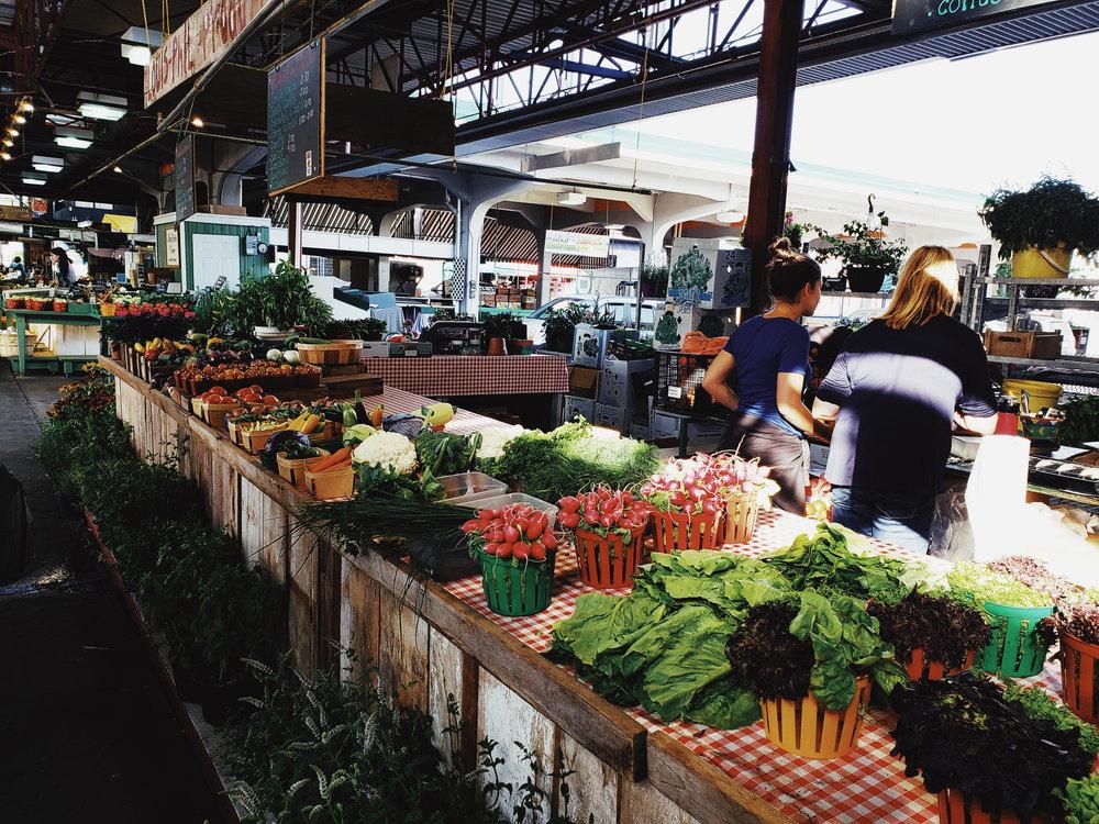 The fresh produce of Marche Jean-Talon.