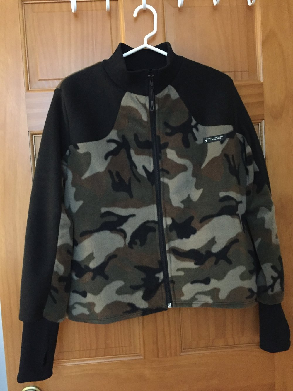 Zip Camo Fleece Jacket