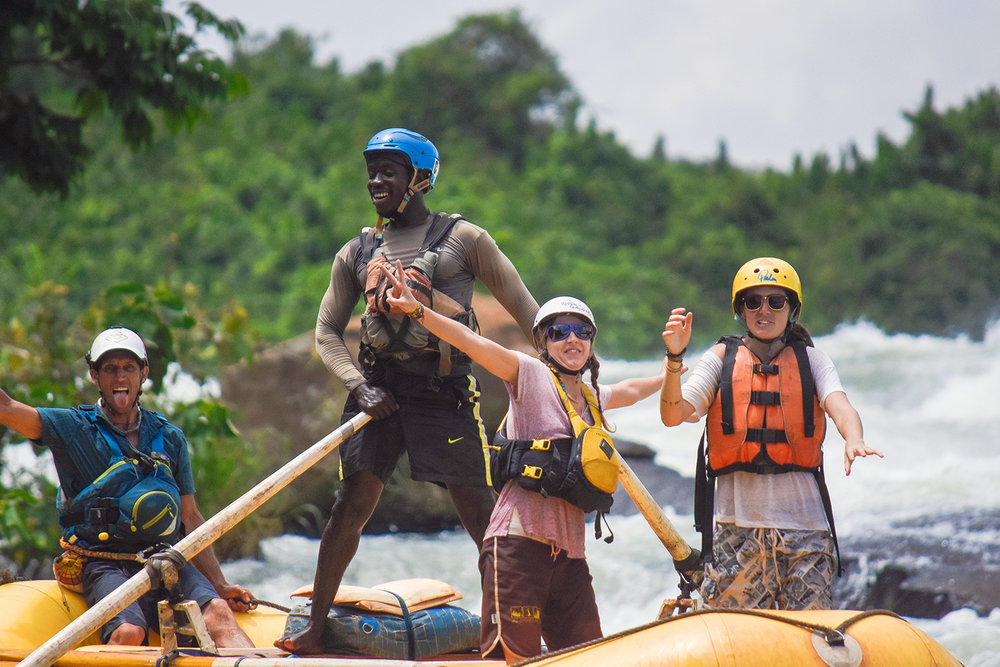 Our most popular trip! - Our one day whitewater trip is incredible value for money, offering you return transport from Kampala, one-night accommodation either at the tea-house or the Nile River Camp, breakfast, lunch, plenty of beers and snacks after the trip and free photos. We're almost forgetting the 3-4 hours of incredible whitewater and a 19km journey down the mighty white Nile with the best crew in the business!!You can choose grade 3 or grade 5 (minimum ages 14yrs / 16yrs) and we will always try our best to be as flexible to your needs as possible - read more below...Trips run everyday with minimum client number of 2 from Jinja or 4 from Kampala