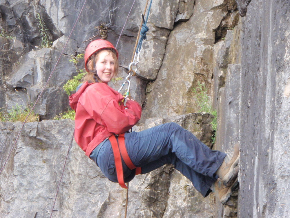 Climbing and abseiling