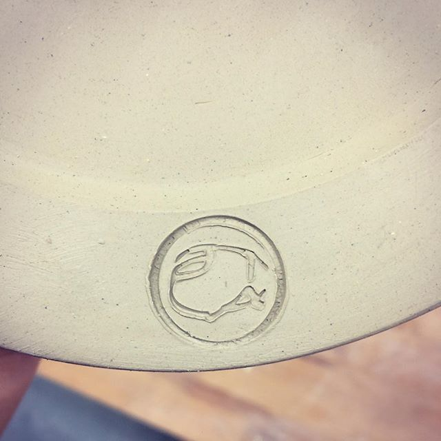Trying not to spoil pieces with that final stamp #stamp #brand #3dprinting #late #latepottery #pottery #ceramics #instapottery #makersofinstagram #clay #pleasedontgothrough