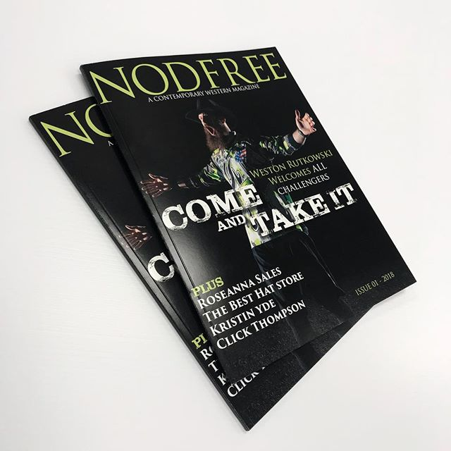 Issue #☝🏾of @nodfreemag is available this Friday!! Featuring @westonrutkowski @besthatstore @knyde09 @roseannasalesphotography @randyquartieri and @clickthompson #nodfreemag #nodfree #rodeo #western #magazine @blurbbooks
