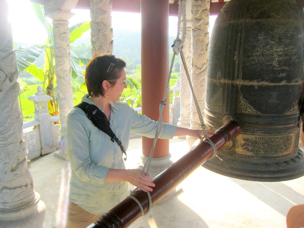 - Having the honour of ringing a temple bell, as part of a delegation collaborating with the Vietnam government to modernize public services.