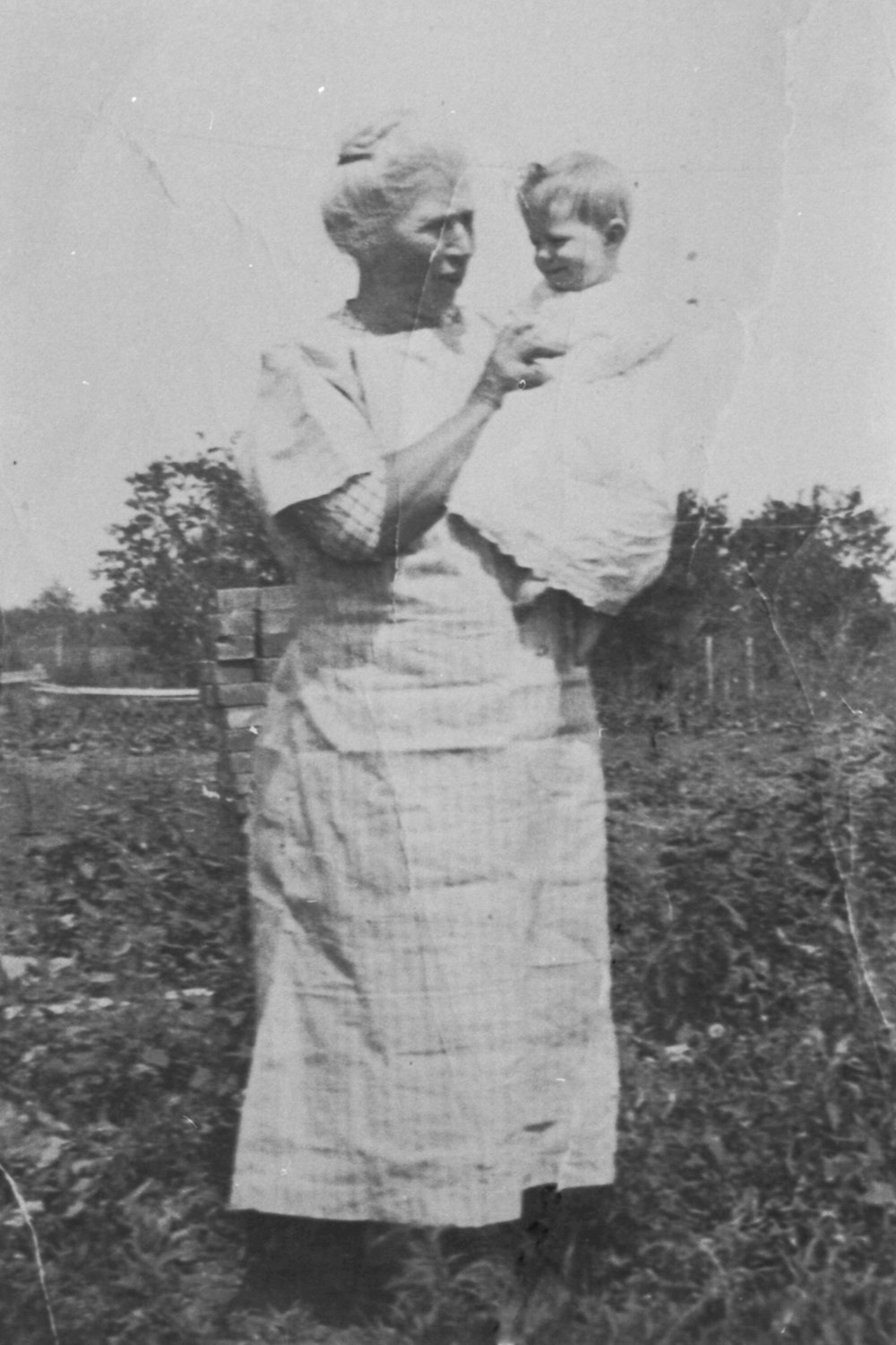 - My Mom with her Aunt Mary, who lived with my Mom's family on their central Alberta farm (1925).