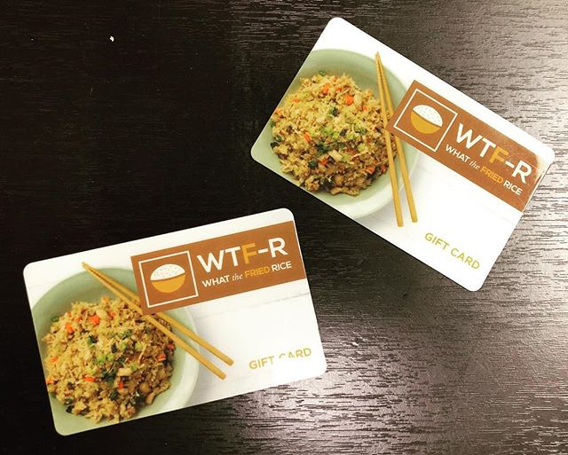 Breaking news! We are now selling gift cards in store! Get your loved ones the gift of amazing food. Great for any occasion!#eatfriedrice #whatthefriedrice #giftcards #greatestgift