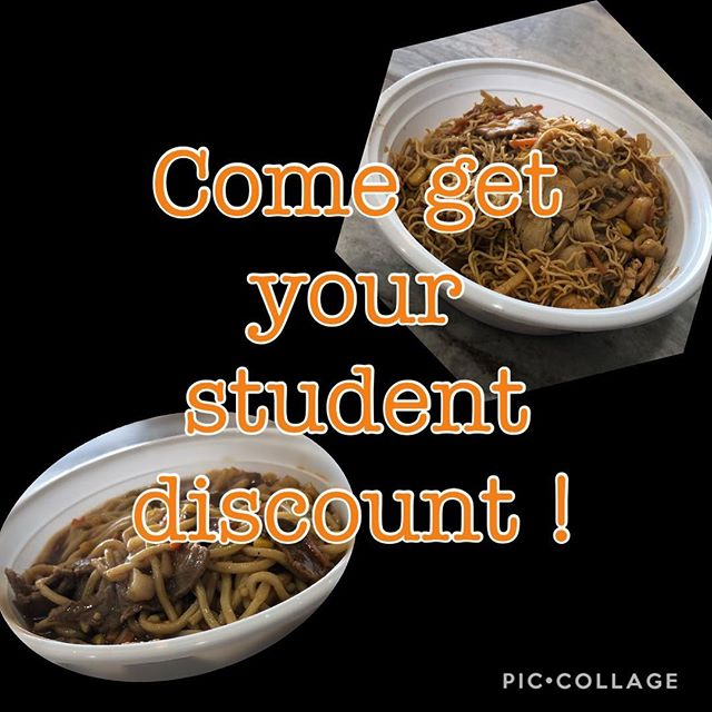 Go to school or college bring in your student ID and receive 10% off your order! #whatthefriedrice #eatfriedrice #studentdiscount