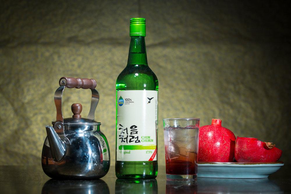 Pomegrante Soju