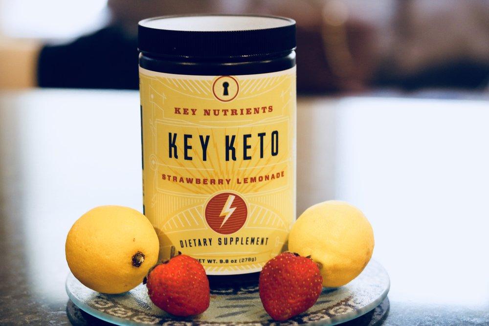 Key Keto Strawberry Lemonade - Delicious drink that increased my ketone levels & energy