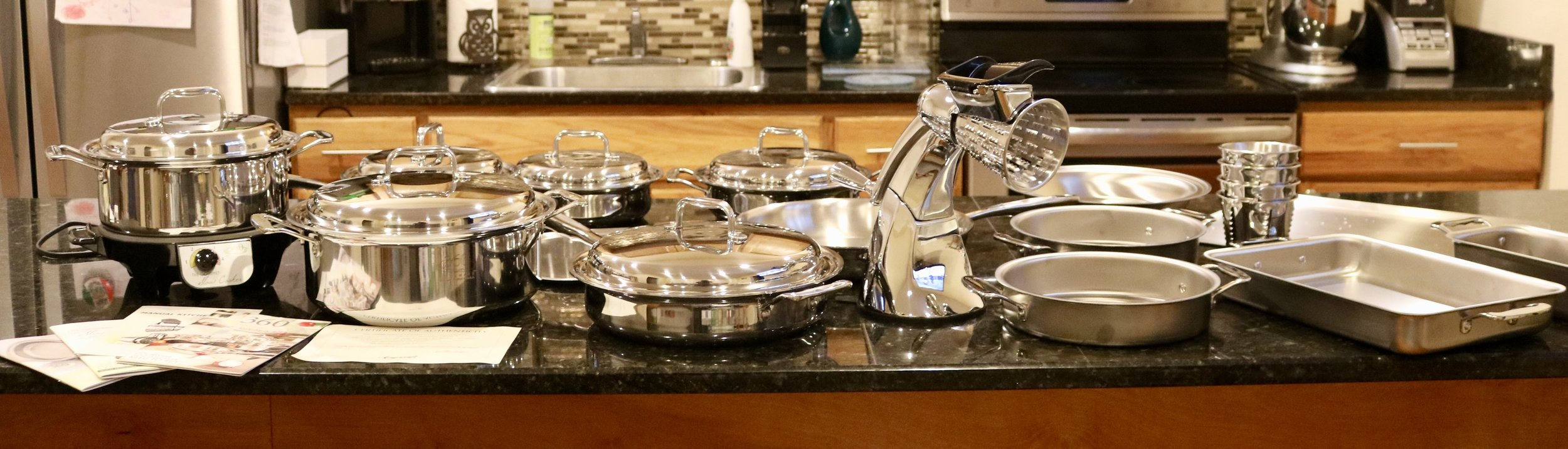All of the 360 Cookware that is stocked in my kitchen