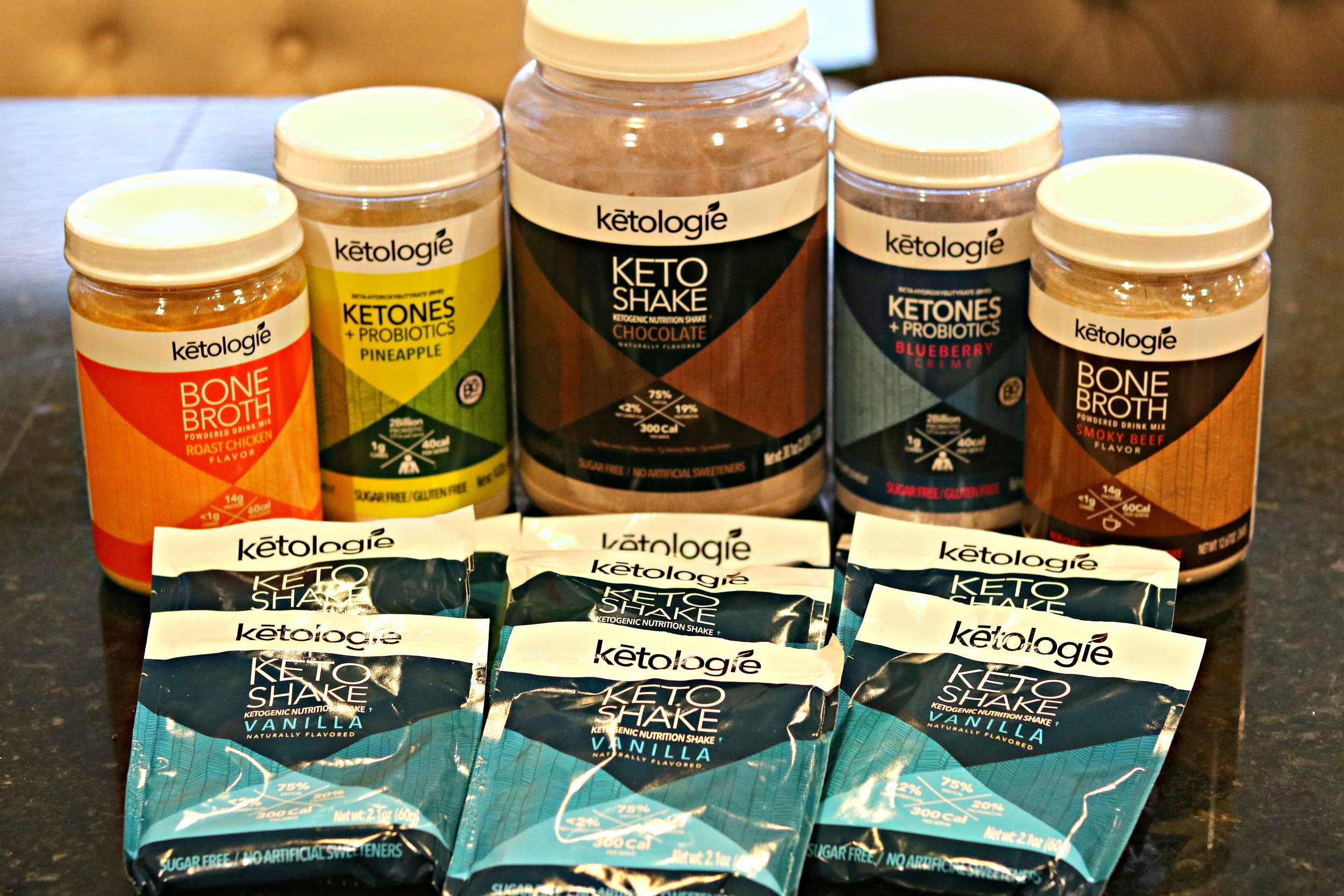 An assorted collection of Ketologie products