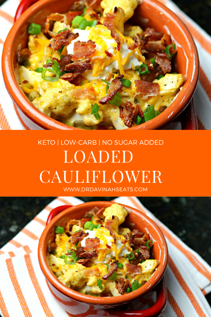 An easy recipe for loaded cauliflower that is the keto-friendly and a low-carb substitute to loaded baked potatoes