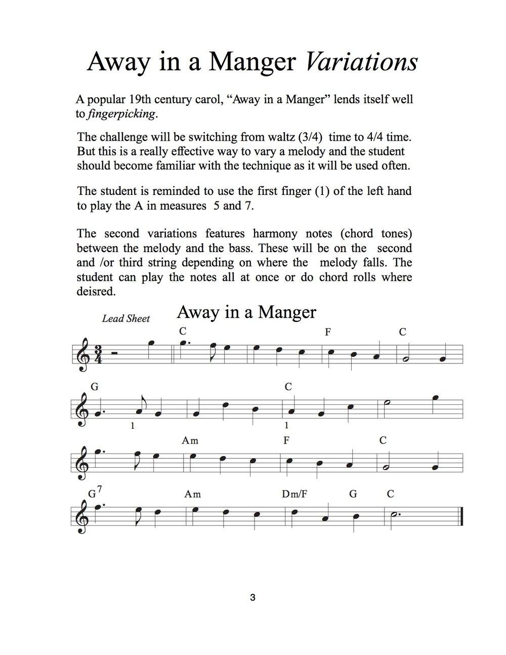 Christmas Waltz Chords.Fingerpicking Christmas Volume 1