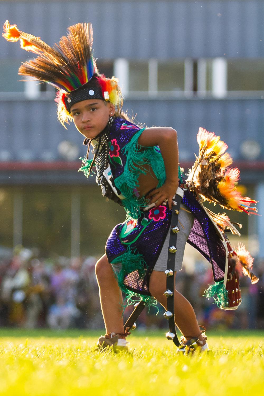 """Young Prairie Chicken Dancer"" Julyamsh Post Falls, ID 2012"
