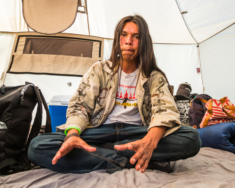 """""""The Storyteller"""" September 18th, 2016 at Oceti Sakowin on the Standing Rock Sioux Reservation near Cannonball, ND"""