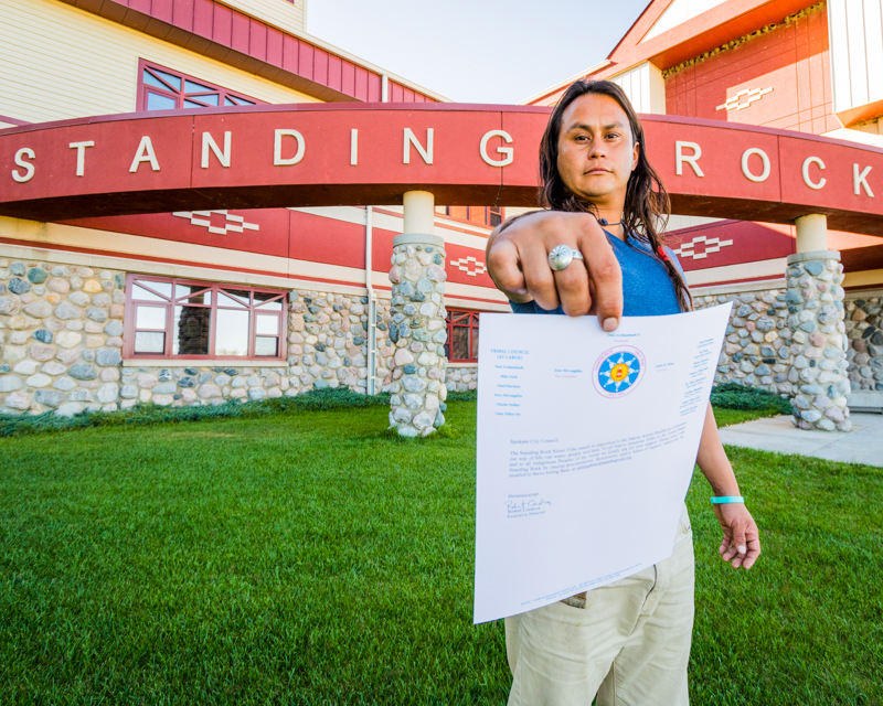 """""""Jacob's Letter"""" September 19th, 2016 on the Standing Rock Sioux Reservation Fort Yates, ND"""