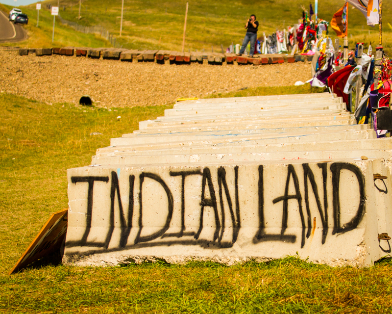 """""""Indian Land"""" September 17th, 2016 at Oceti Sakowin on the Standing Rock Sioux Reservation near Cannonball, ND"""