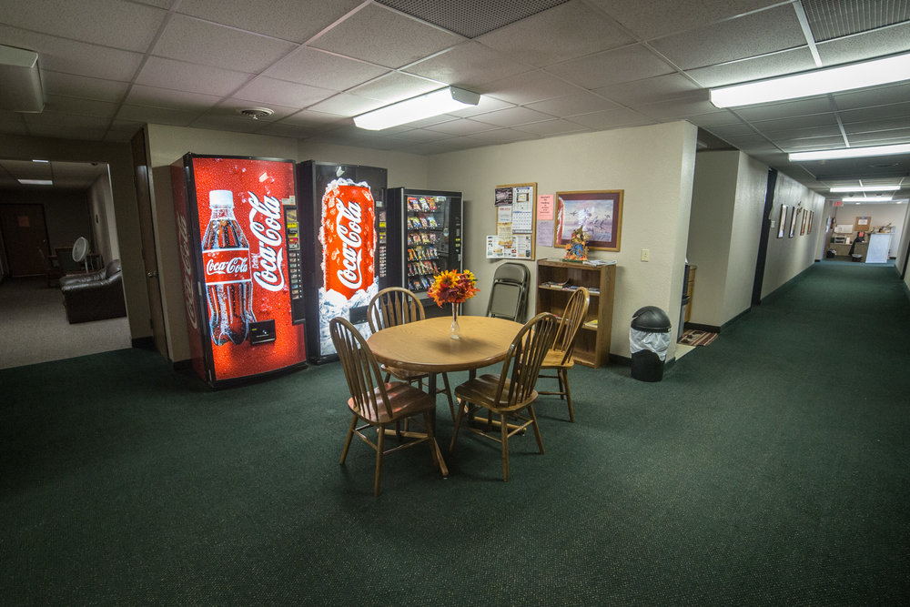 Common area with vending