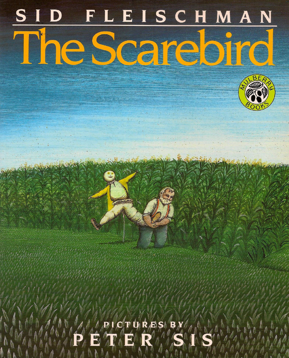 The Scarebird - Illustrated by Peter Sis Redbook Children's Picturebook Award Lonesome John's only friend is a scruffy scarecrow--until a stranger comes along.