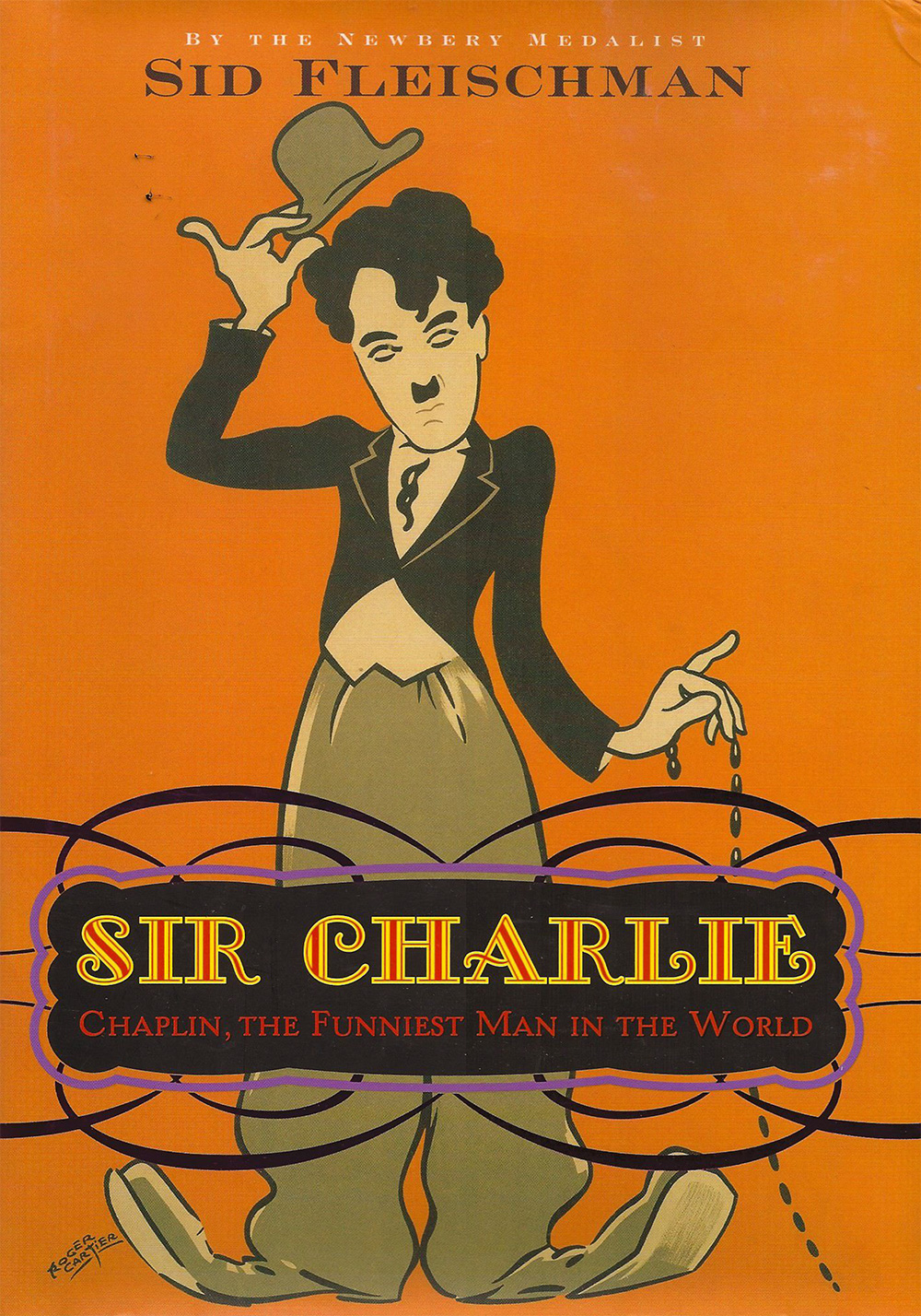Sir Charlie: Chaplin, the Funniest Man in the World - Abandoned by his alcoholic father, neglected by a mother fighting insanity, Charlie Chaplin rose from the London slums to dine on gold plates in his Beverly Hills mansion, only to be driven from the country that had brought him worldwide fame. Never were tragedy and comedy so inextricably mixed as in his too-outlandish-for-fiction life, told with Sid Fleischman's trademark wit and verve. Publishers Weekly Best Children's Books list Booklist's Editor's Choice list