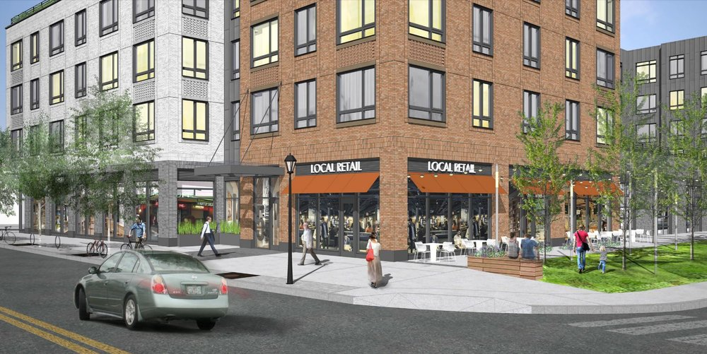 Renderings are courtesy of 5 Washington Square Owner LLC and Stantec Architecture