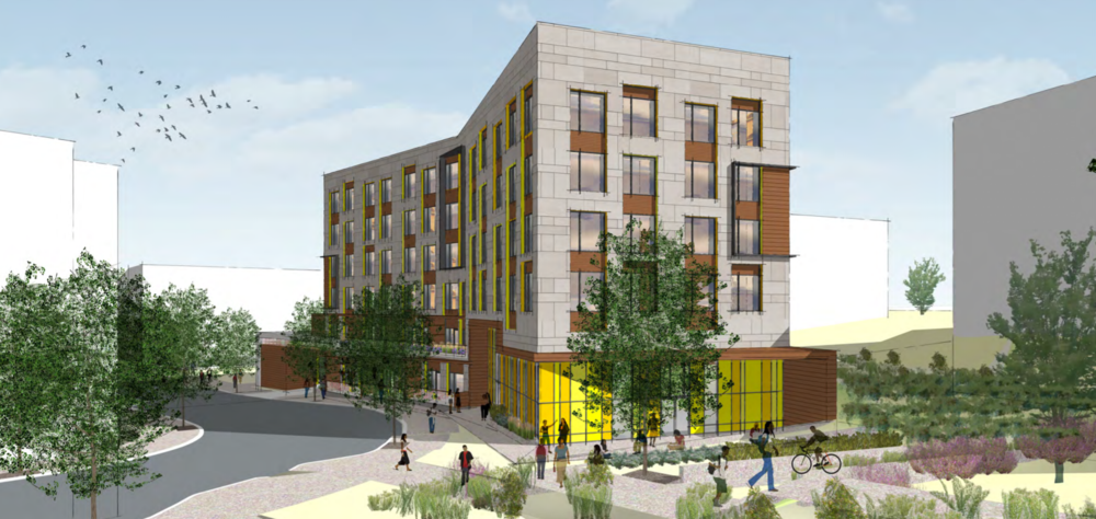 Renderings courtesy of Preservation of Affordable Housing, Nuestra Communidad Development Corporation, and DREAM Collaborative, LLC