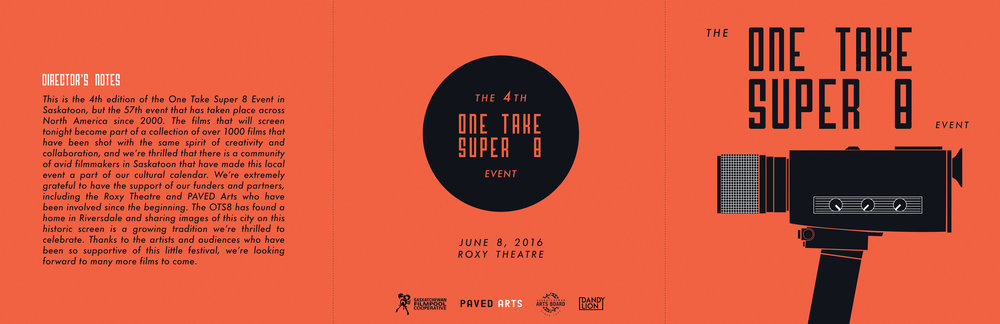 THE ONE TAKE SUPER 8 EVENT 2016  - PROGRAM DESIGN