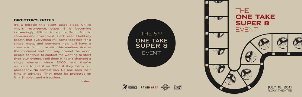 THE ONE TAKE SUPER 8 EVENT 2017  - PROGRAM DESIGN
