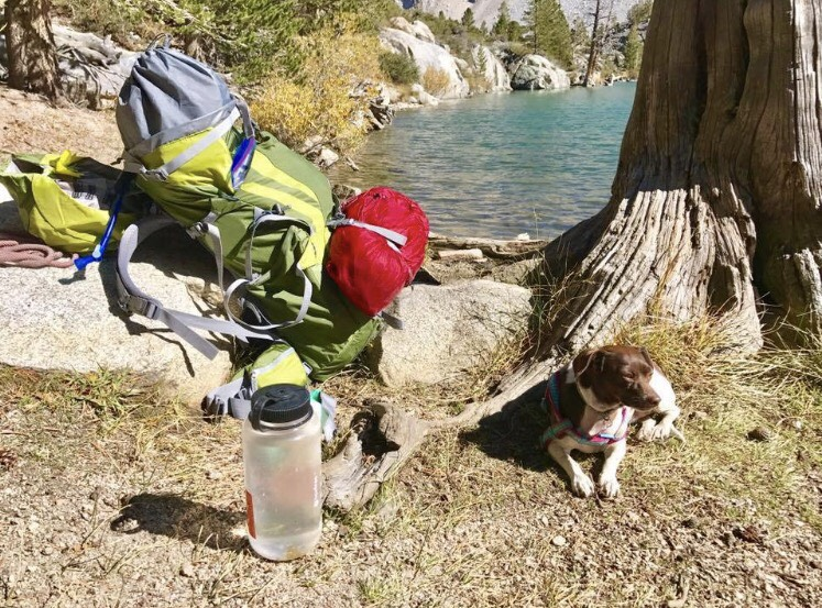 Everything BUT the kitchen sink. Jokes aside, this was the pack I carried during solo my 3-day adventure to Big Pine Lakes with my pup!