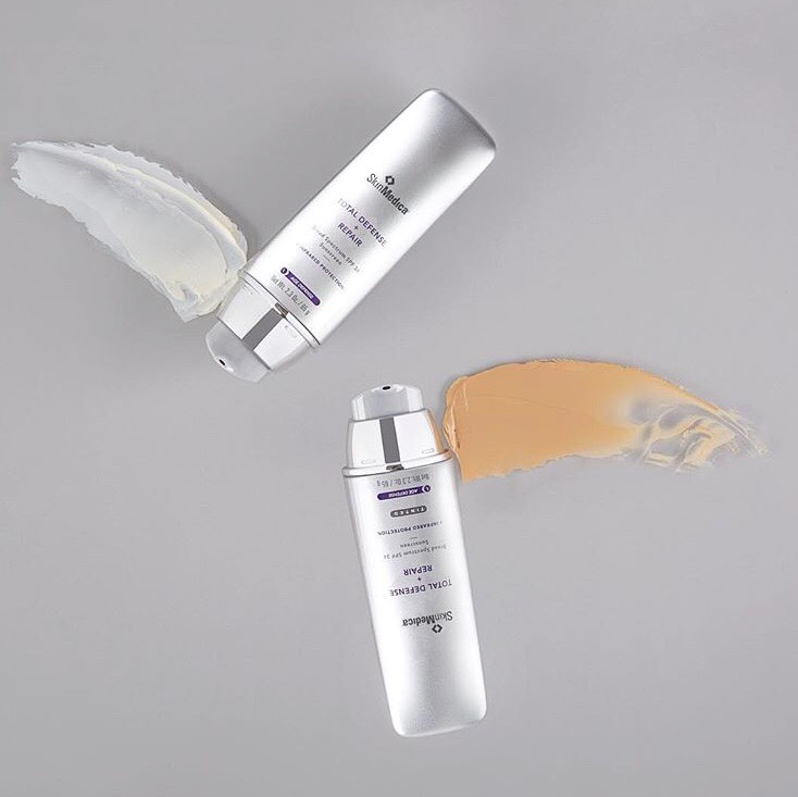 SkinMedica makes some of the best sunscreen both tinted and non-tinted that have age-defying properties as well as broad spectrum SPF protection.