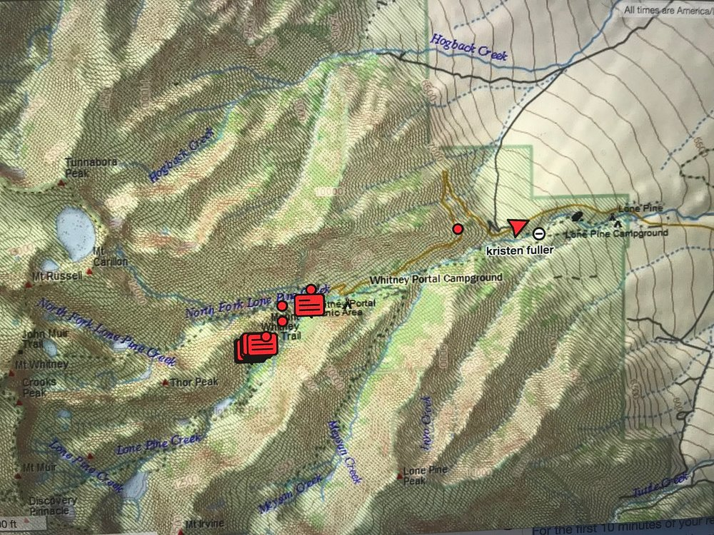 These were all the waypoints that were located from the emergency response center. These were automatically sent from the GPS feature on the Garmin inReach.