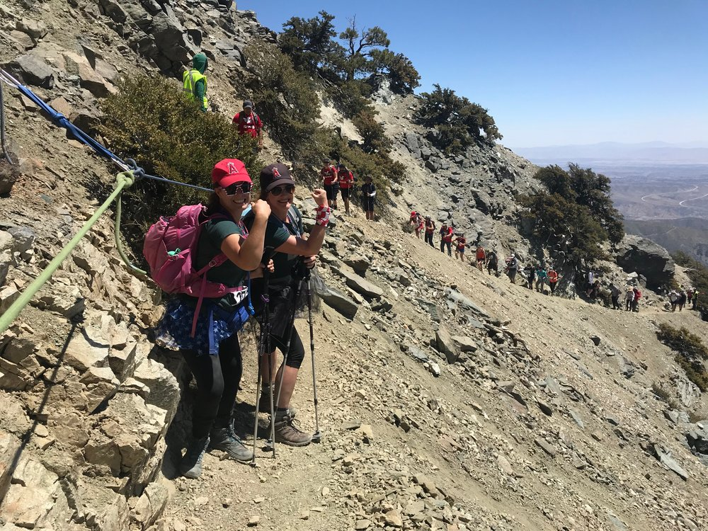 Angel hats and tutus for the win at the annual Climb For Heroes Mt. Baldy summit.