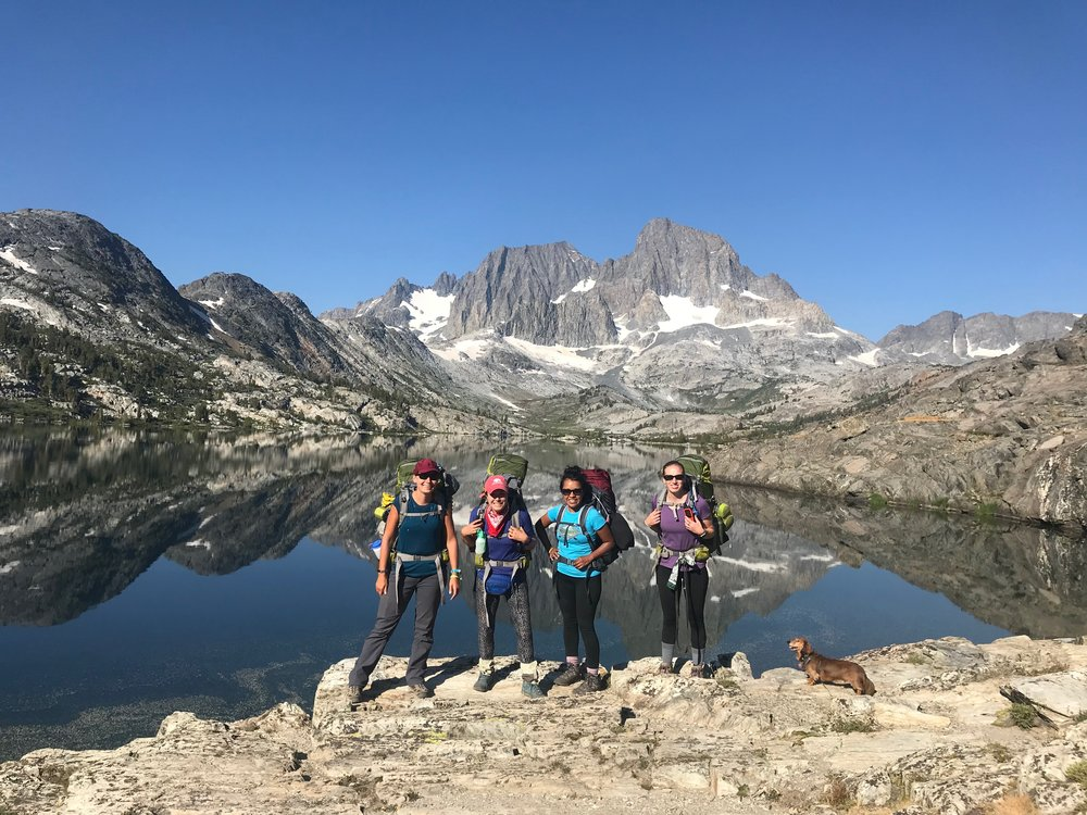 July 2018: GirlsWhoHike  Thousand Island Lakes Backpacking Trip