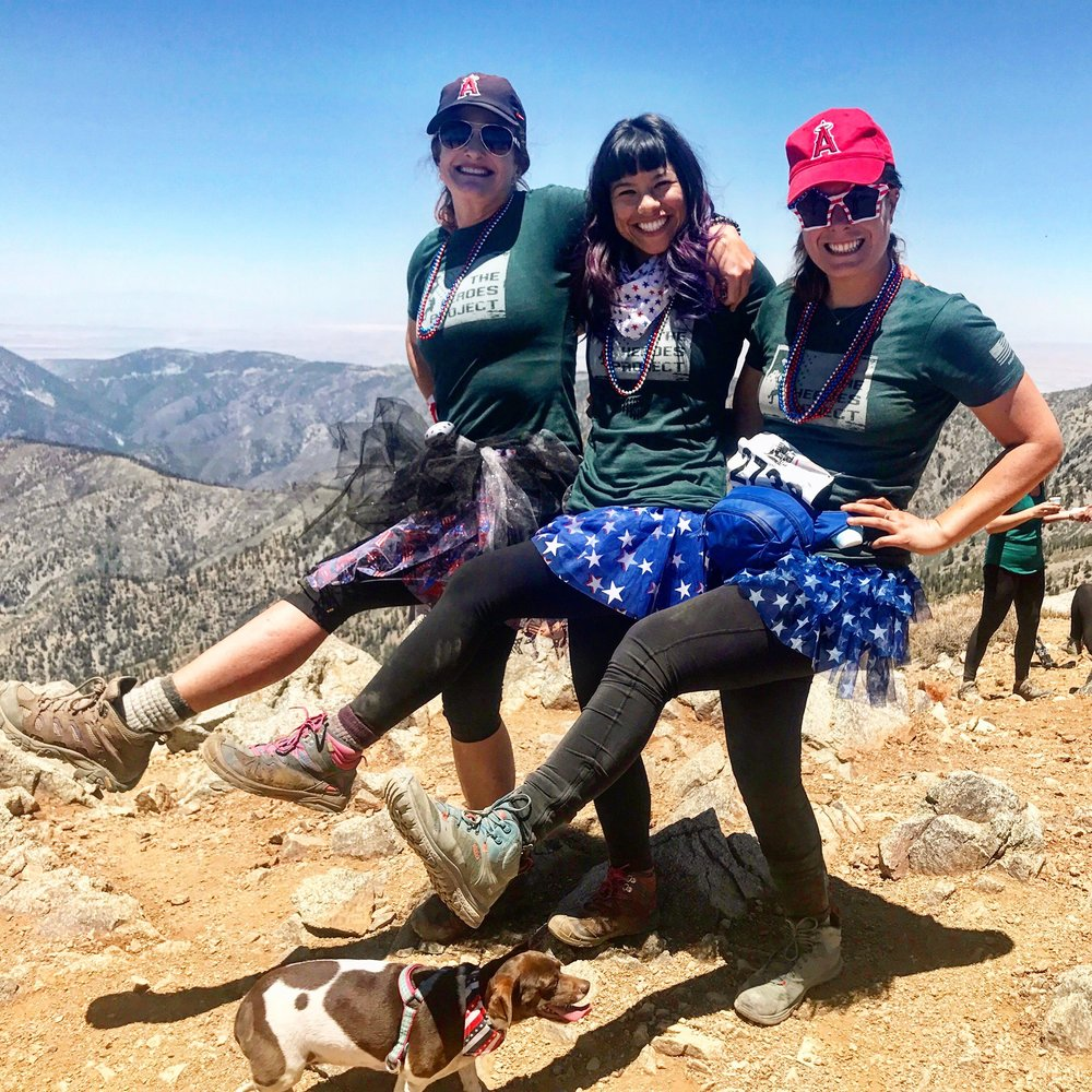 June 2018: GirlsWhoHike Climb For Heroes fundraiser to the summit of Mt. Baldy