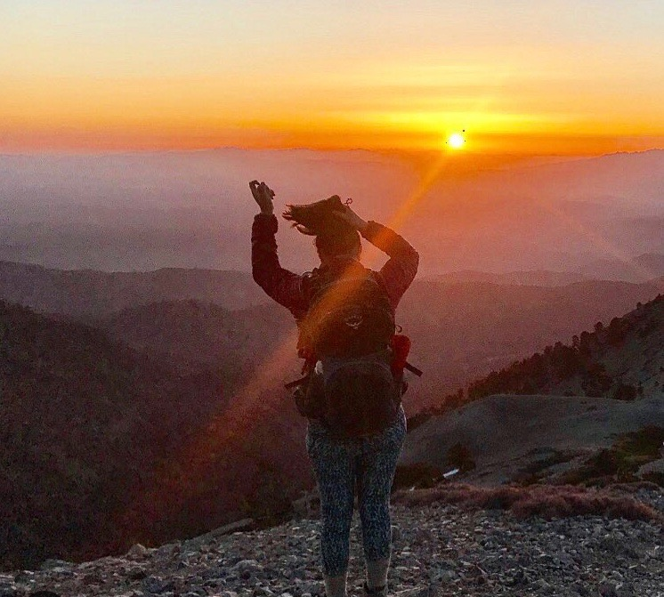 Sunrise on the Baldy summit.