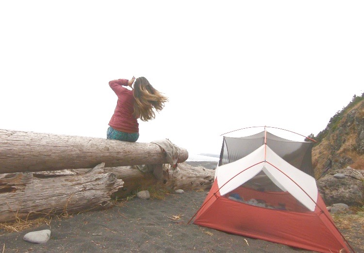 Getting blown away on the Lost Coast Trail. Post coming soon about my incredible solo backpacking trip through this uninhabited coastline.