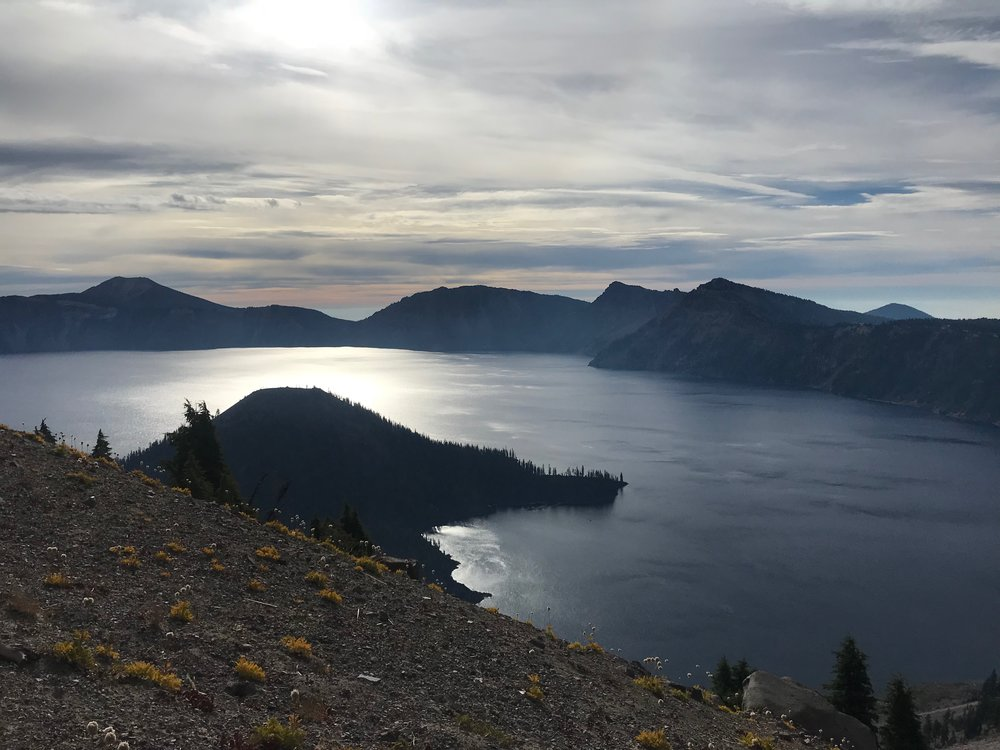 Crater Lake National Park. I would love to come back here for a week to hike and camp.