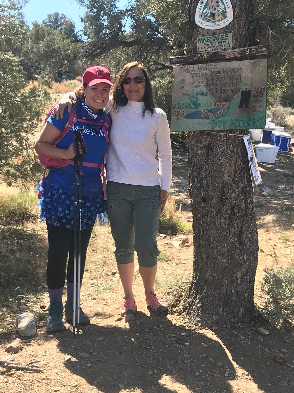 My mom met me on the PCT, a true definition of a Trail Angel.