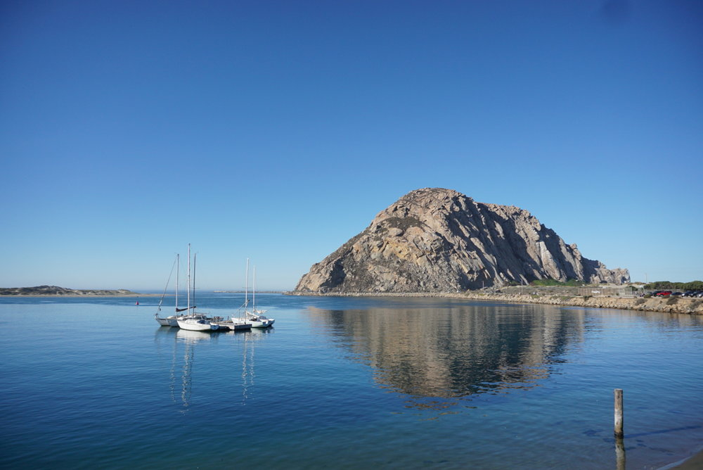 Morro Bay with terrific lighting