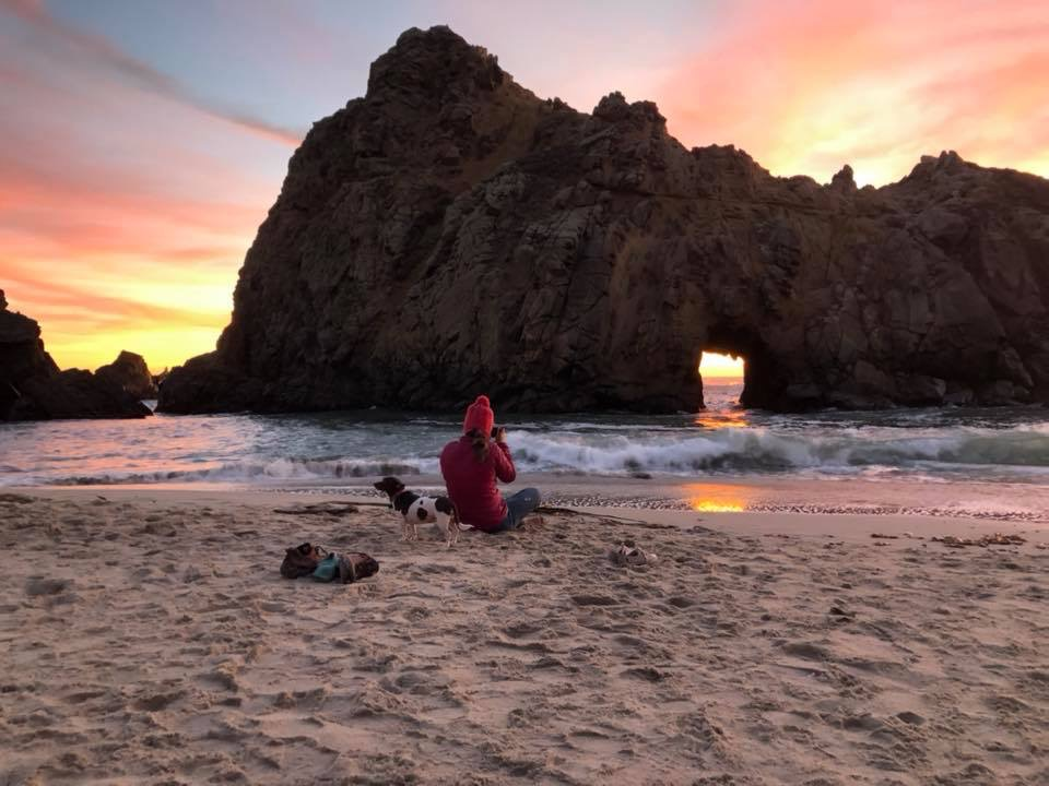 Pfeiffer Beach: I could sit here all day and photograph this beautiful spot.