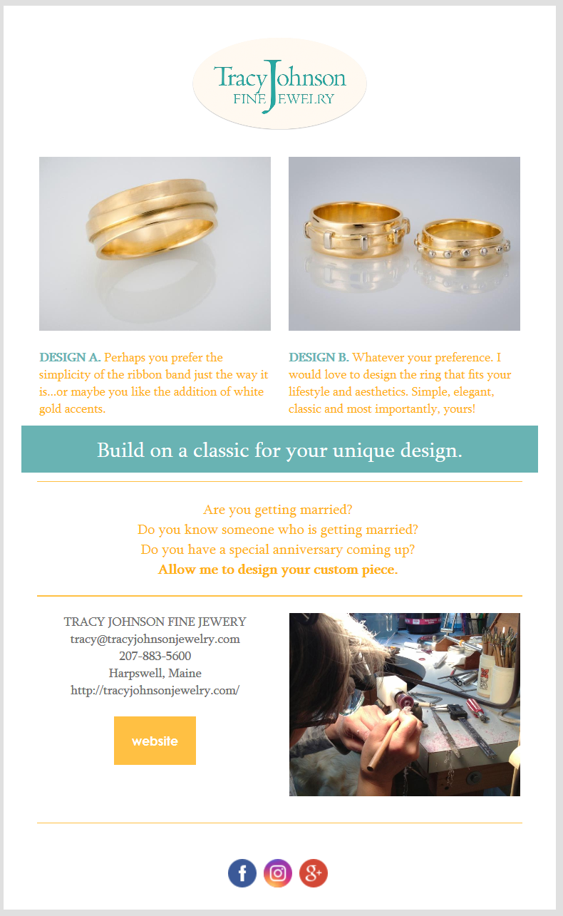 Email Campaign - Email campaign for Tracy Johnson Jewelry