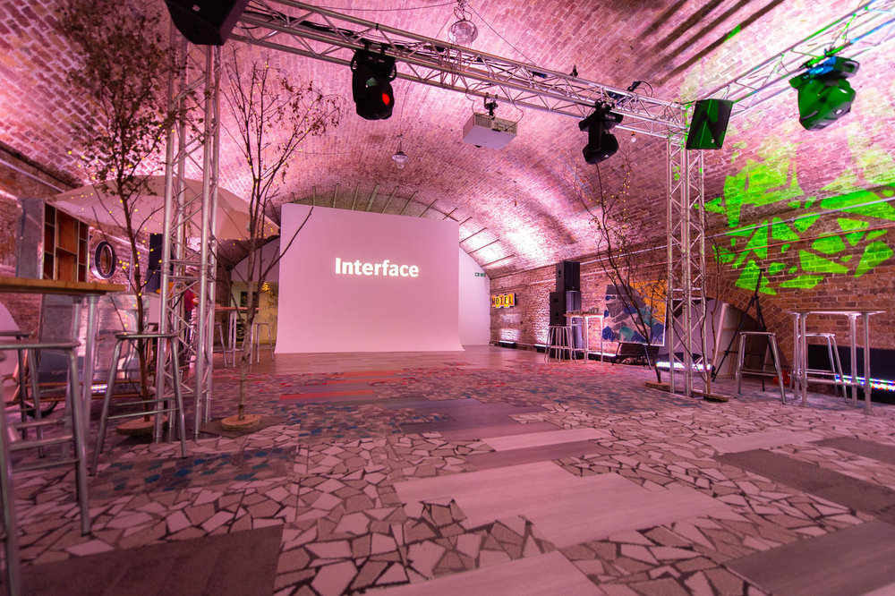 Interface product launch event created in London.