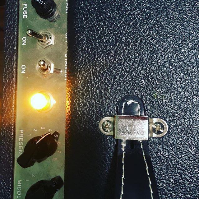 Lights on for the next jam.🤘😎#guitar #musicgear #rocknroll #musicianlife #countrymusic #guitardaily #guitaramp #tweedamp #amplifiers