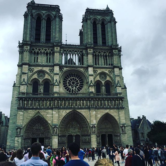 So sad to hear of the burning of this beautiful cathedral. Flashback to spring 2018 and visiting this amazing landmark in Paris. #rocknroll #travel #countrymusic #musician #davemyersmusic #musicianlife #paris #historicsites