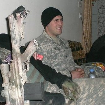 Justin Miller in Iraq