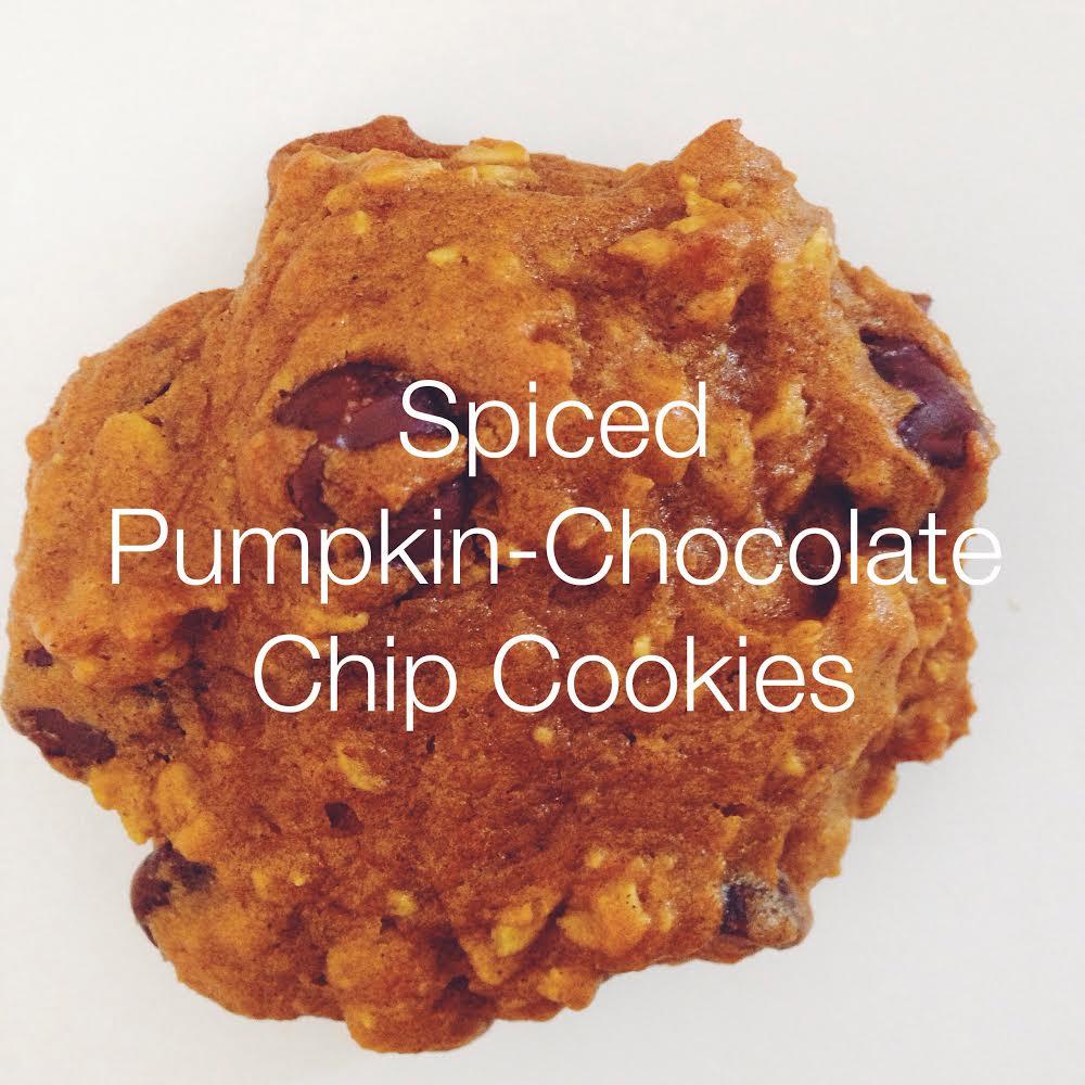 spiced pumpkin-chocolate chip cookies