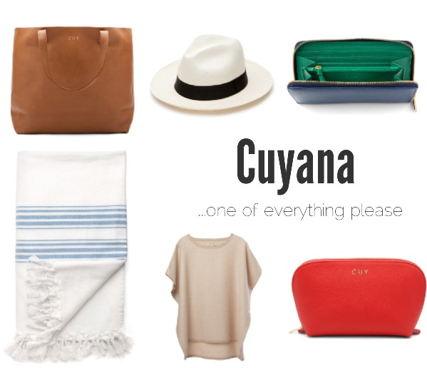 Cuyana shopping list