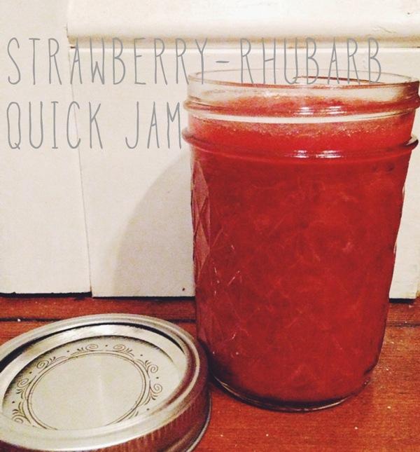 strawberry- rhubarb quick jam