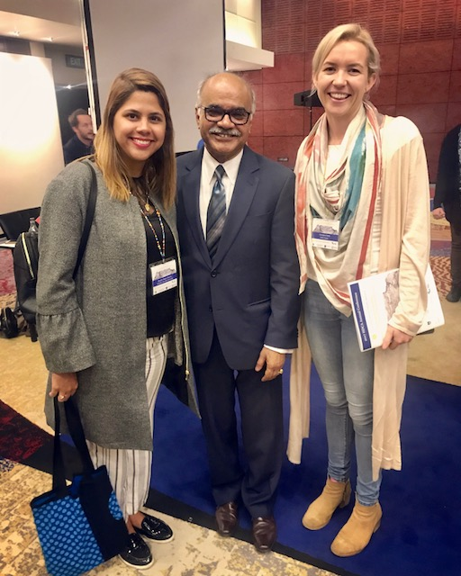 (From Left) Diyer Duque, BA Student of Human Development, Venezuela, Selim Jahan, Director UNDP and Georgina Camp, Huber Social.