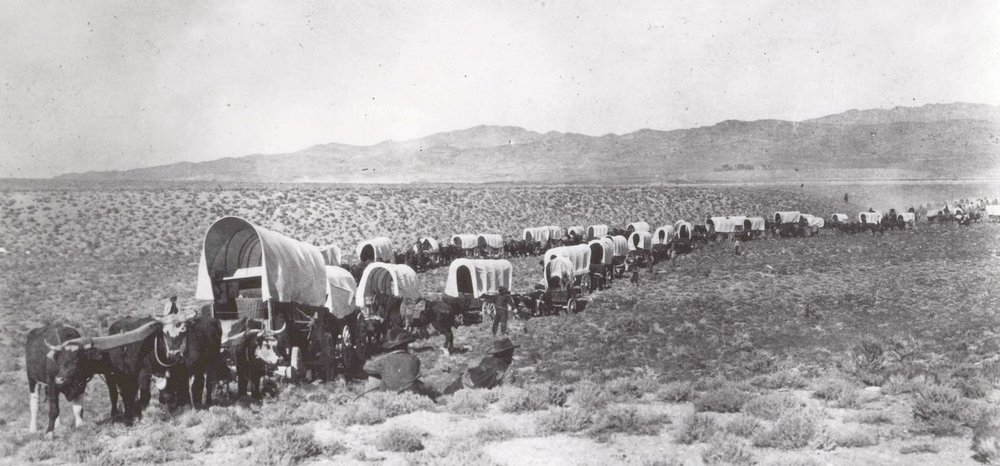 An Exodus - The Mormon Pioneer Trail:    Few years in the Far West were more notable than 1846. That year saw a war start with Mexico, the Donner-Reed party embark on their infamous journey into a frozen world of indescribable horror, and the beginning of the best organized mass migration in American history. The participants of this migration, the Mormons, would establish thriving communities in what was considered by many to be a worthless desert (NPS.)  In addition, 4 small groups came through the Salt Lake Valley taking what is known as the Hastings Cut-off across to the Humbolt River. In 1847, the Mormons came in large numbers.